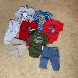 Baby Boys Newborn Clothing Lot